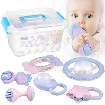 Amazon Com Baby Toys Rattle Teether Boiling Sterilization Infant
