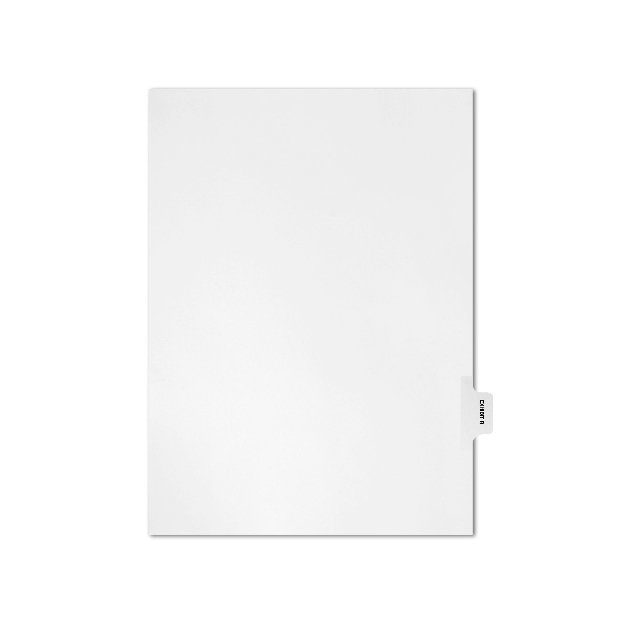 AMZfiling Individual Legal Index Tab Dividers, Compatible with Avery- Exhibit R, Side Tabs, Letter Size, White, Position 8 (25 Sheets/pkg)