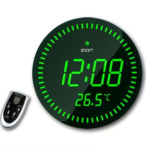 Grande LED – Reloj digital de mesa o pared reloj diseño moderno decoración para el hogar