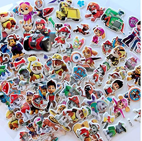 Kids Craft Scrapbooking 12 Different Sheets Paw Anime Decals Kids Stickers for Teacher Students AG Goodies 3D Dog Patrol Puffy Stickers