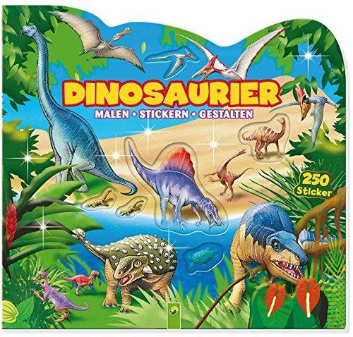 Dinosaurier: Stickern - Malen - Gestalten