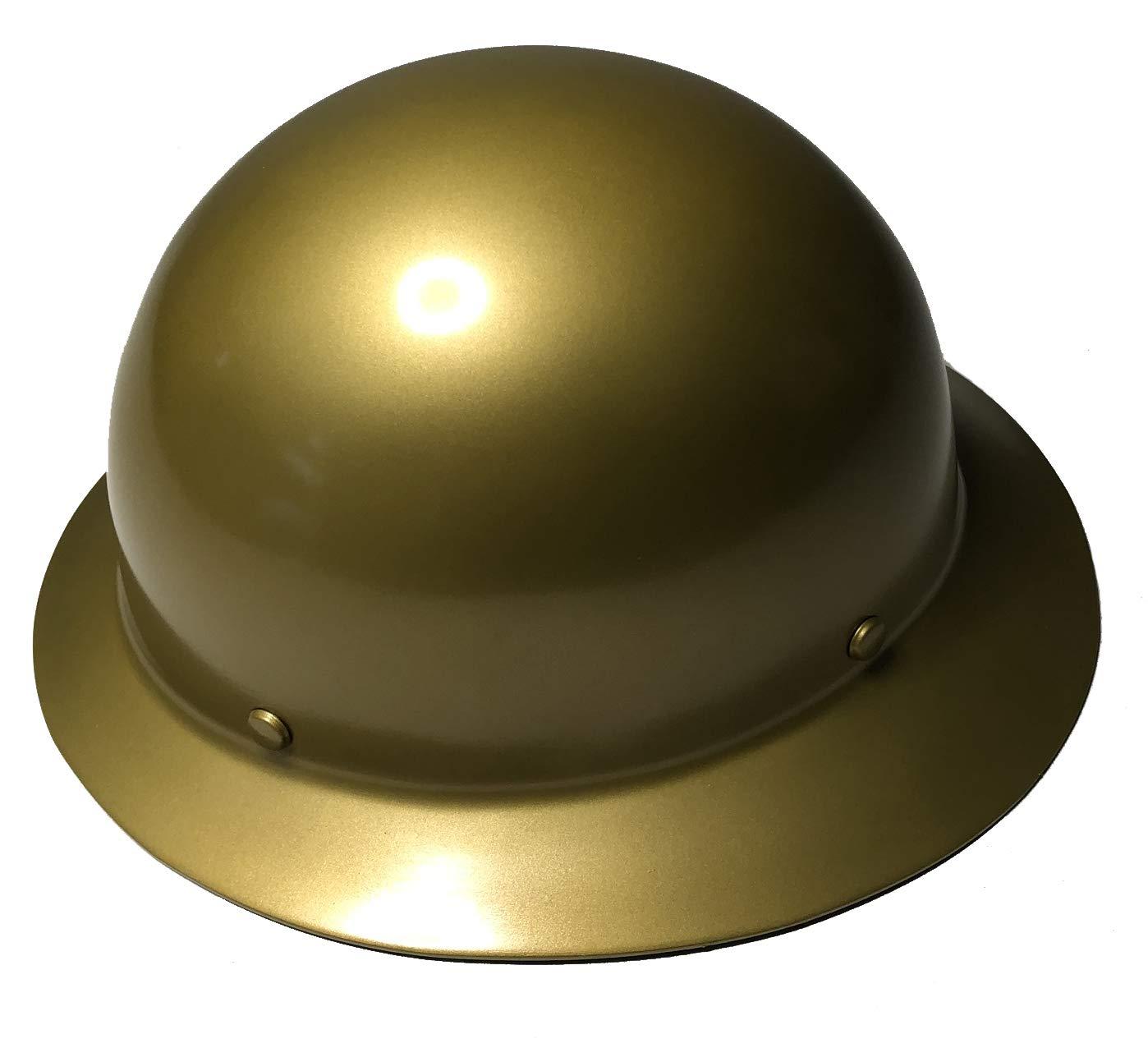 Hard Hat MSA Skullgard Full Brim Custom Gold Metallic Satin by Bag R Buck (Image #2)