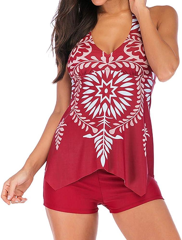 Bikini Mujer Resplend Traje De BañO Tankini para Mujer Tankini Traje De BañO Push-Up Tankini para Imprimir con Short: Amazon.es: Ropa y accesorios