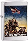 Personalized Message Engraved Customized Gift For Him For Her U.S. Marine Corps. Zippo Indoor Outdoor Windproof Lighter (Marine All Together)