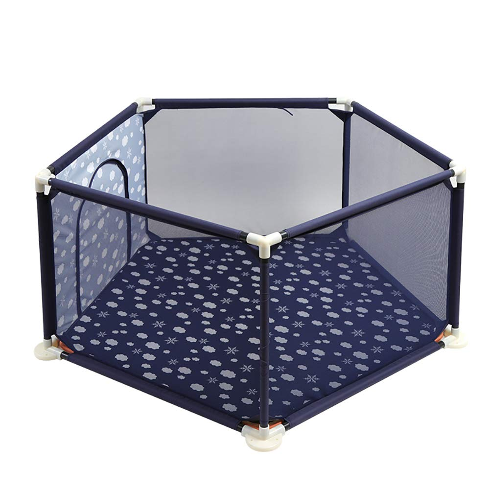 Yxsd Baby Playpen Indoor Toddler Safely Home Playground Children Anti-Fall Game Fence (Color : Blue)