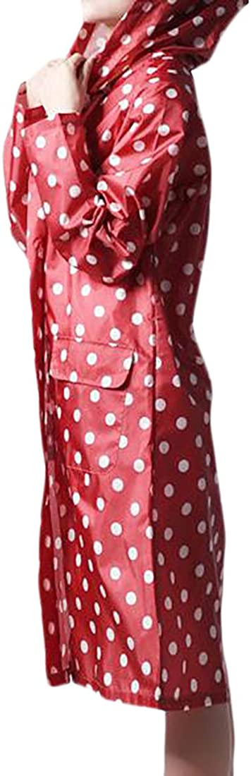 KXP Womens Basic Waterproof Lightweight Quick Dry Portable Poncho Red Free Size