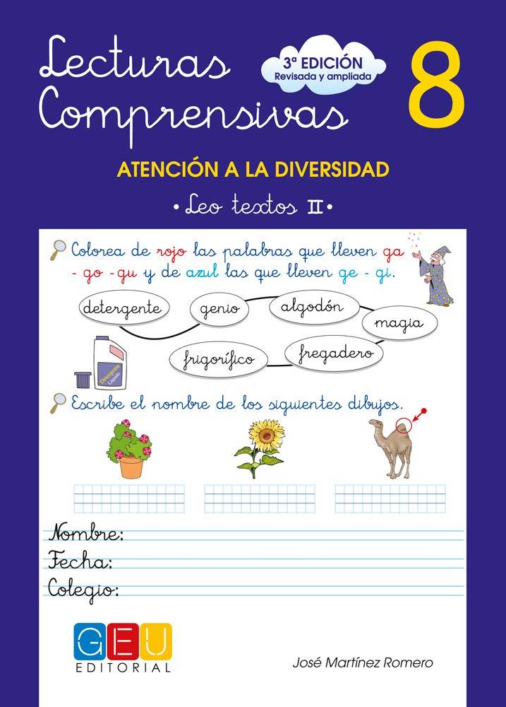 Lecturas comprensivas 8 - Leo Textos II Tapa blanda – 30 abr 2010 José Martínez Romero Editorial GEU 8499151396 002098348