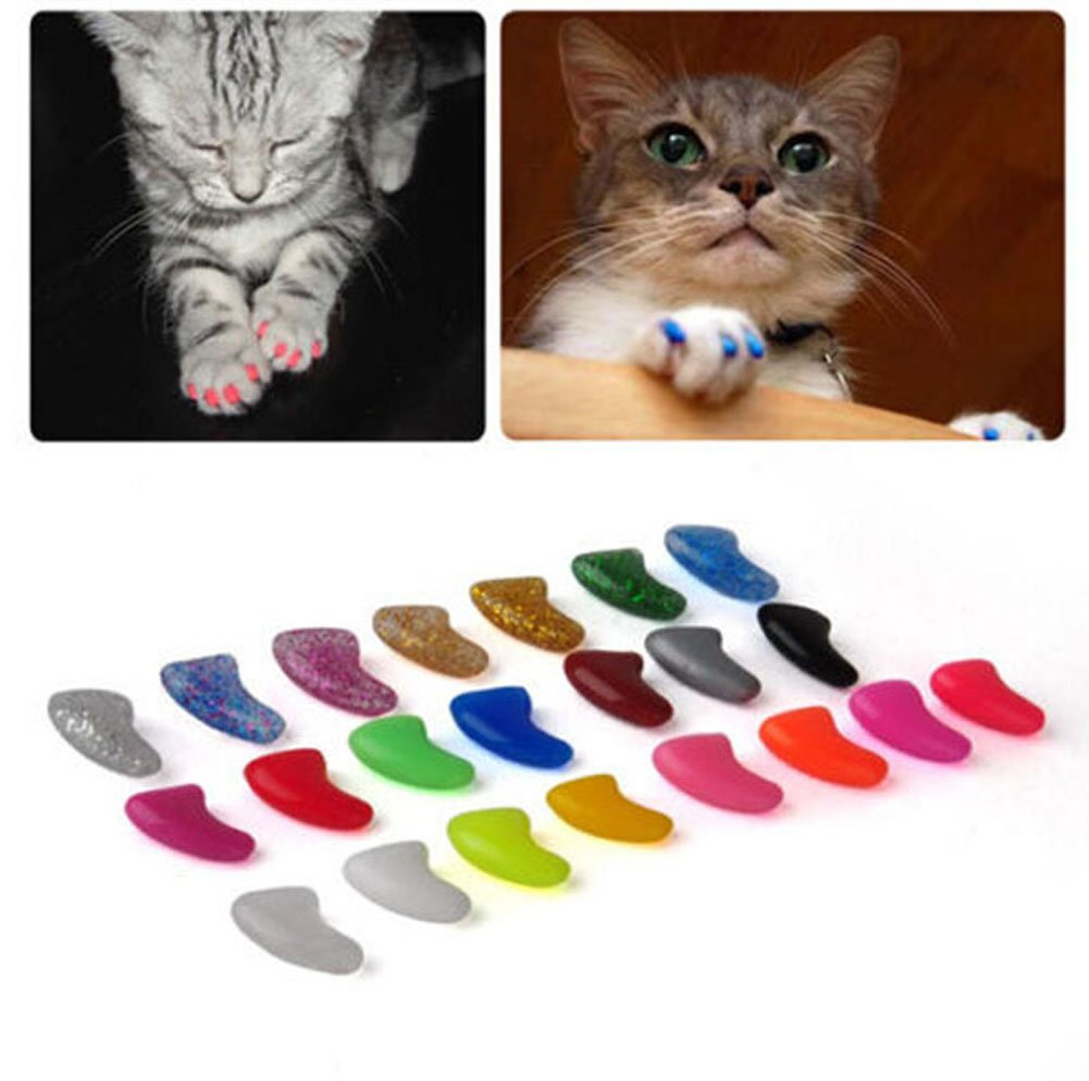 100Pcs Soft Pet Cat Nail Caps Claws Control Paws Of 5 Kinds ...