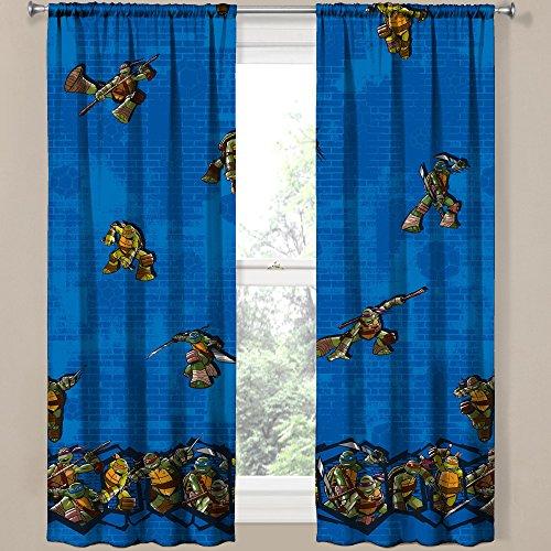 """Teenage Mutant Ninja Turtle Room Darkening Window Panel Drape - 42x63"""""""