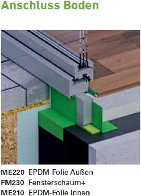 durch Online-Fenster-Kaufen 1 Selbstklebestreifen 1 Meter im Zuschnitt illbruck ME220 EPDM-Folie 250x1,2 mm