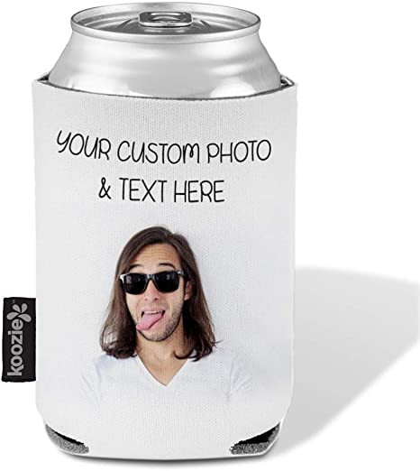 party favors Double sided funny party decor beer and can holder photo gifts can covers can cooler personalized insulated can cover