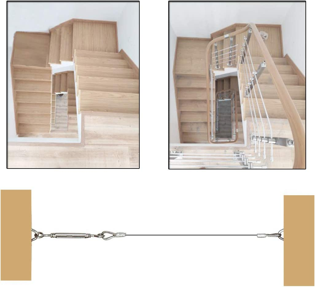 """10 Pack 1/8"""" Stainless Steel Cable Railing Kits for Wood ..."""