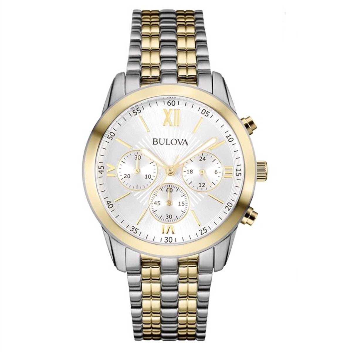 Bulova Men's 98A169 Two-Tone Stainless Chronograph Bracelet Watch by Bulova