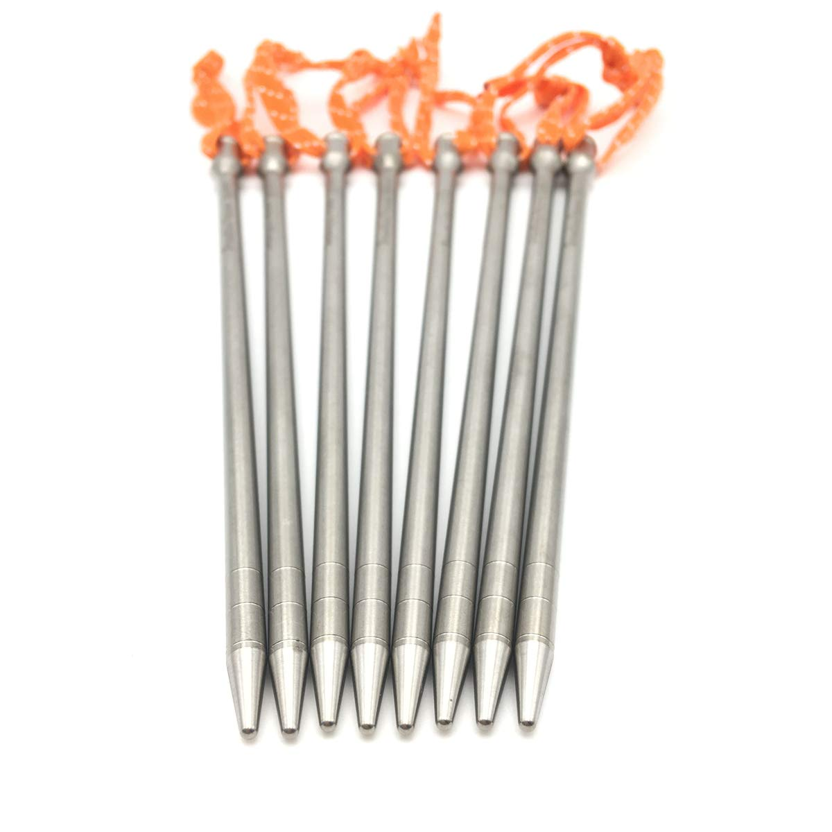 ZEARE Titanium Tent Stakes Ultra Light Titanium Alloy Tent Pegs Outdoor Camping Accessories (8 PCS) by ZEARE