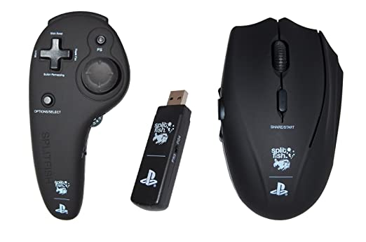 SplitFish FragFX Shark PS4 - Mando raton con licencia oficial Sony (PS4/PS3): Amazon.es: Videojuegos
