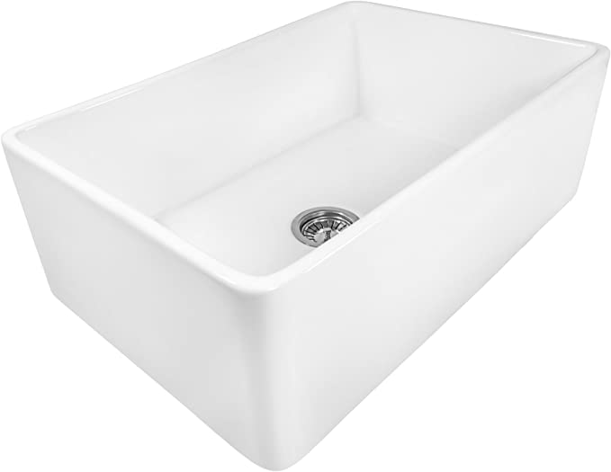 Best Farmhouse Sink: Ruvati 33 x 20 inch RVL2300WH