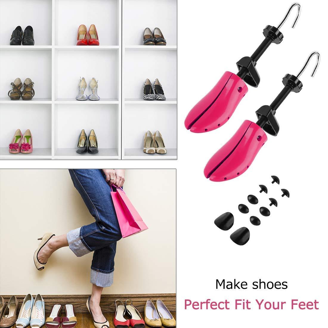 1 Paire Embauchoirs Plastique Arbre /à Chaussures r/églable avec Corne de Chaussure Embauchoirs /à Chaussures