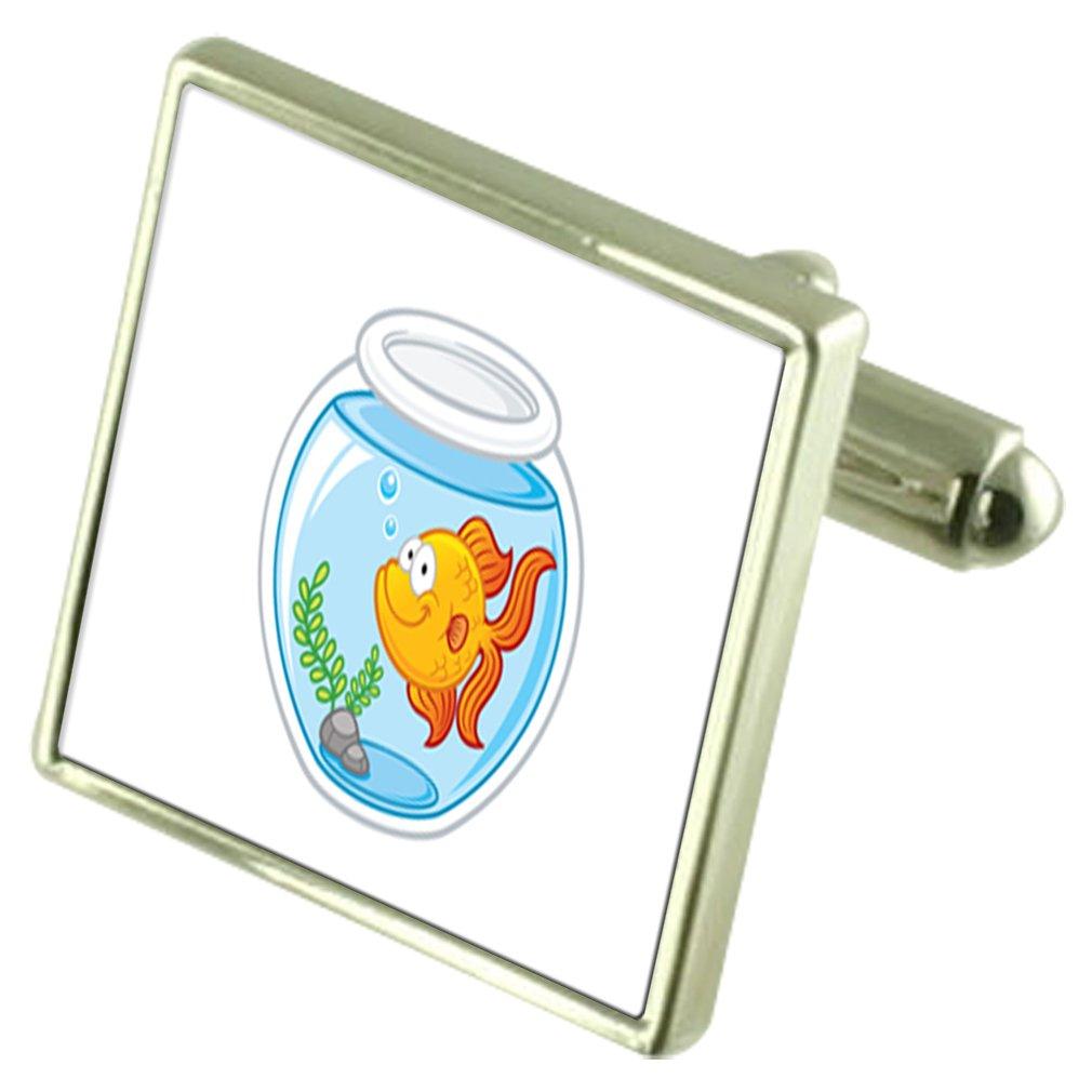 Select Gifts Gold Fish Bowl Engraved Keepsake Message Box