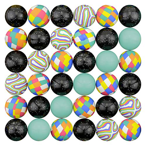 Bouncing Balls 45 mm Colorful Assorted Mixed Superball Colored Balls in Bulk for Vending Machines Great for Kids Novelty Prizes Gifts in Bulk Rubber Large Bulk Bouncy Balls (Multi-Colored Mix ()