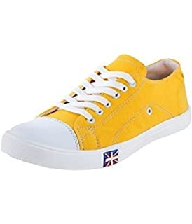 a04931d892dd52 Boysons men yellow stylish sneakers canvas shoes-6  Buy Online at ...