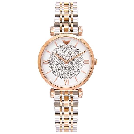 Reloj para mujer 2018 New Fashion Trend Rhinestone Light Luxury Cinturón de acero impermeable Reloj de cuarzo: Amazon.es: Relojes