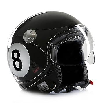 Casco de moto, casco abierto chopper, cafe racer cmx, diseño bola