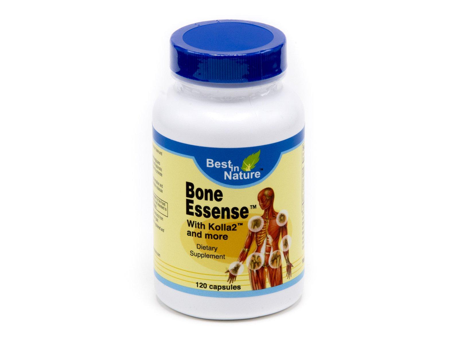 Bone Essense with Kolla2 - Kolla2 300mg, Glucosamine, Chondrotin Sulphate, Calcium - 120 Capsules - Best in Nature (Bundle, Pack of 4)