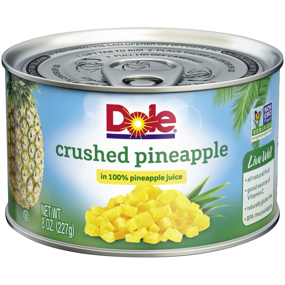 Dole Crushed Pineapple in Juice, 8 Ounce Cans (Pack of 12)