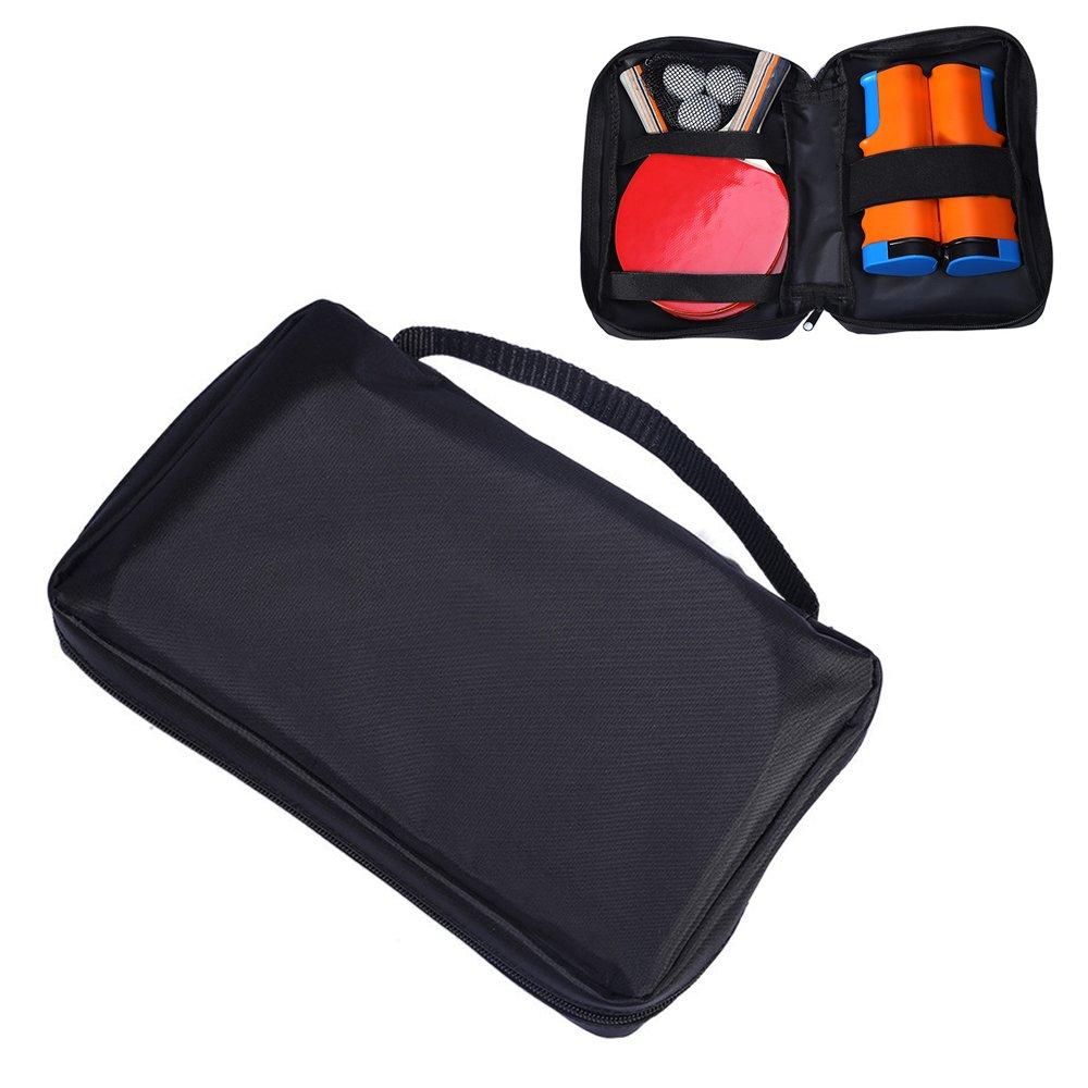 emall Handle Table Tennis Racket Case Shake-Hand Ping Pong Paddle Bag
