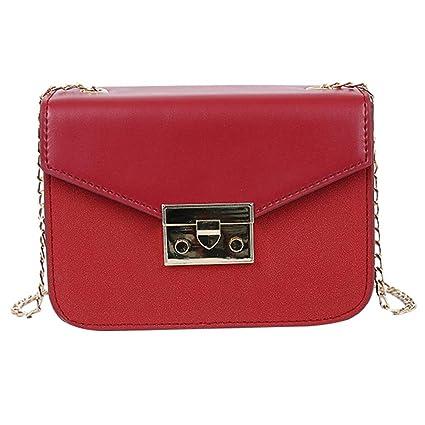 5ef4f5c3004b Amazon.com: Onefa Messenger Bag Phone Bag, Fashion Joker Lock Solid ...