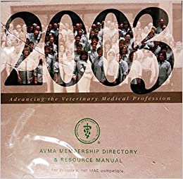 Book 2003 AVMA Membership Directory & Resource Manual (AVMA Directory and Resource Manual)