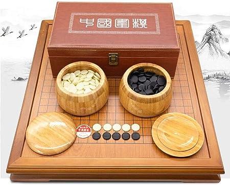 Yuzhonghua Estrategia China Juego de Mesa, Juego de Tablero de Juego Contiene Cuencos de bambú y Piedra, Dos Juegos clásicos for niños y Juegos de Mesa for Adultos: Amazon.es: Hogar
