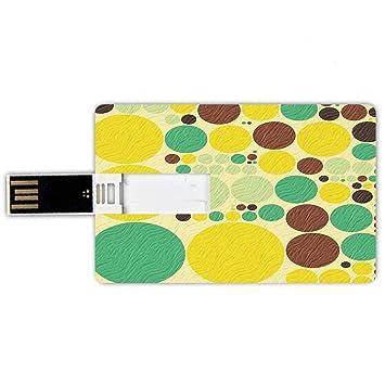 8GB Forma de Tarjeta de crédito de Unidades Flash USB Lunares ...