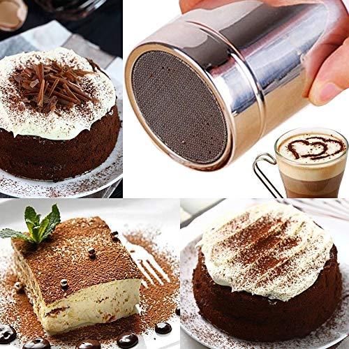 ❤️Jonerytime❤️ Stainless Chocolate Shaker Icing Sugar Powder Flour Cocoa Coffee Sifter]()