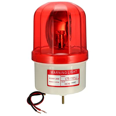 uxcell LED Warning Light Rotating Flashing Industrial Signal Alarm Tower Lamp Buzzer 90dB AC 110V Red LTE1101LJ: Home Improvement