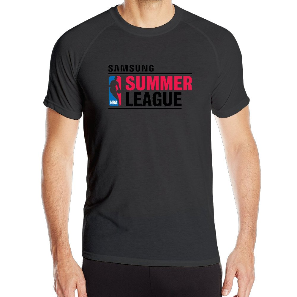 Men's NBA Summer League 2016 Logo Sport Quick Dry Short Sleeves T-Shirt