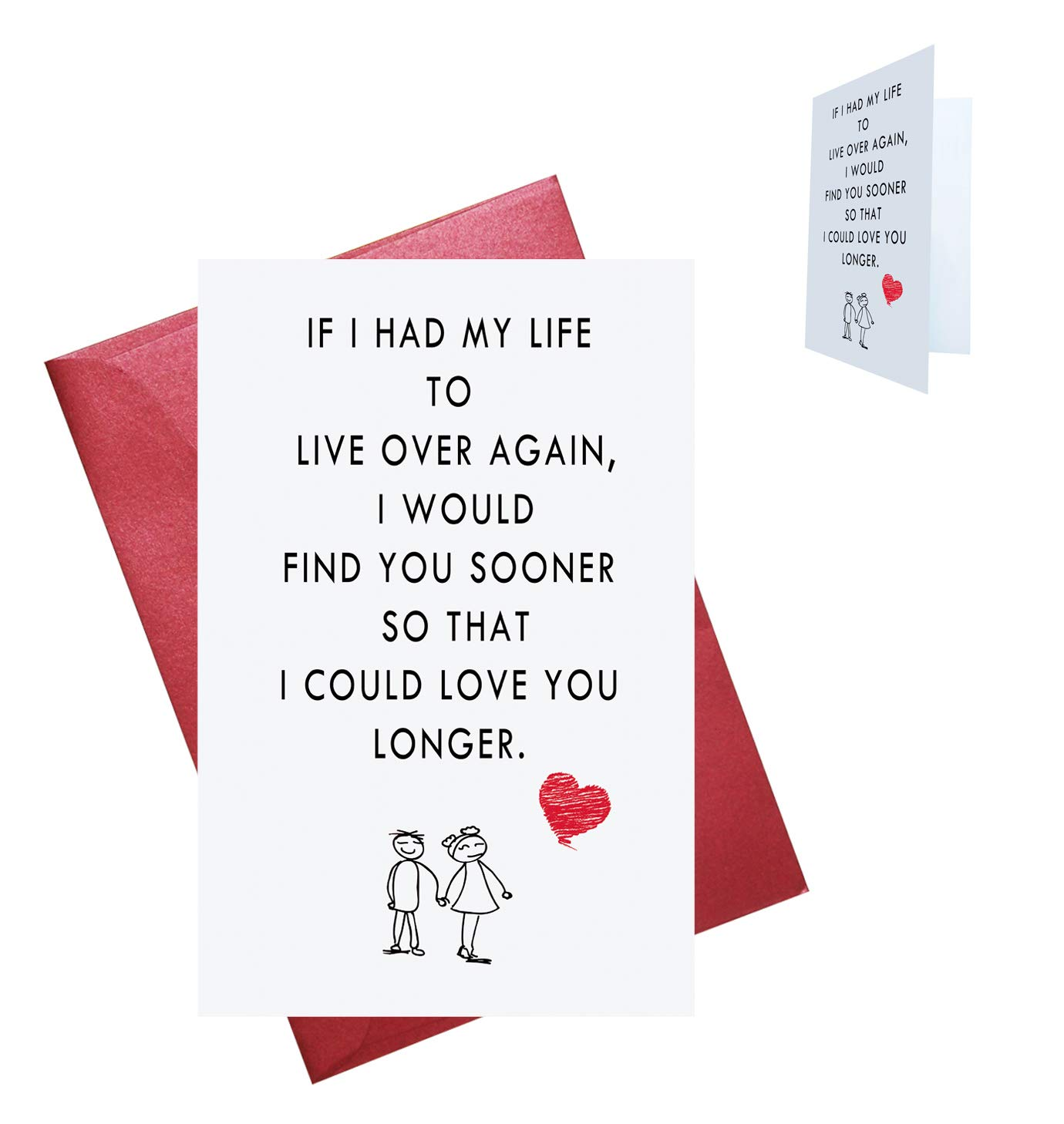 Amazon Valentines Day Cards Love Card Romantic Birthday Wedding Blank Inside Office Products