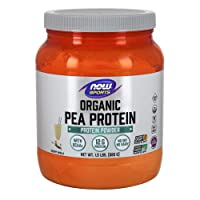 NOW Sports Nutrition, Certified Organic Pea Protein, 12 G With BCAAs, Creamy Vanilla...