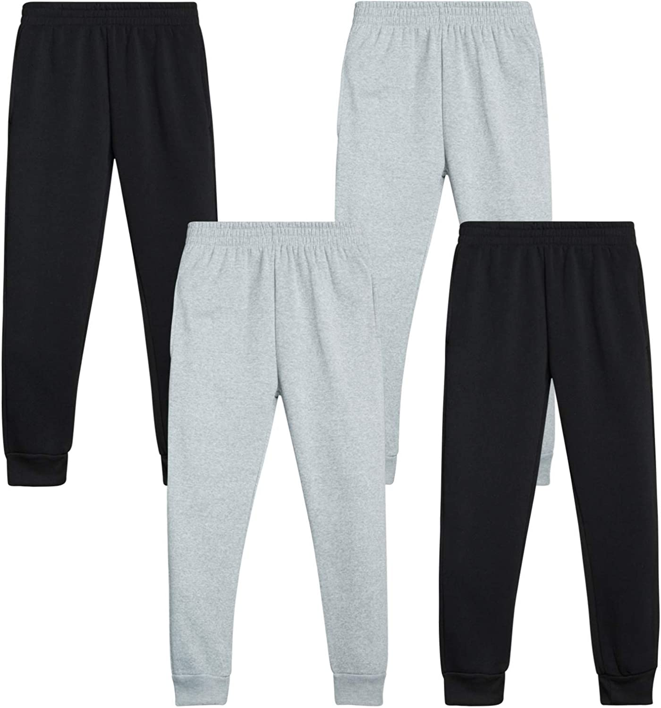 Quad Seven Boys Pajama Bottoms Micro Fleece Sleepwear Jogger Sweatpants 4 Pack
