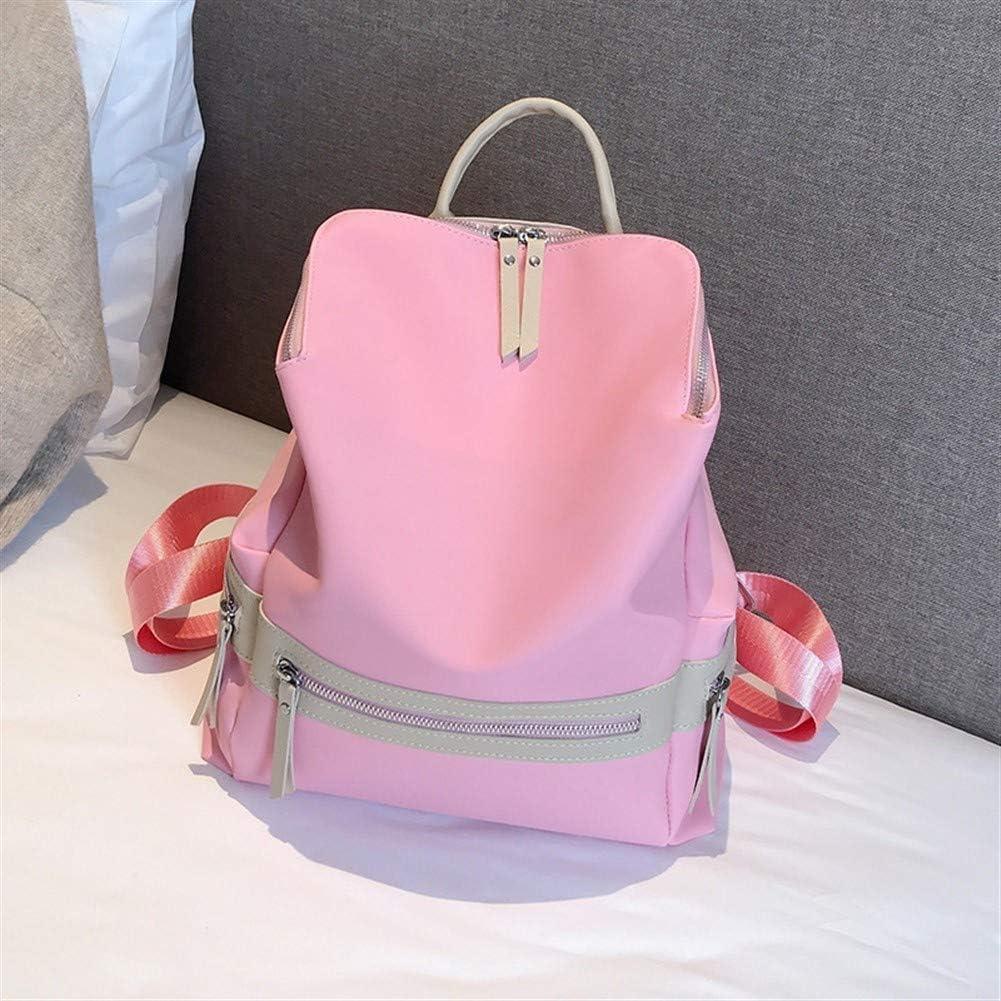 JUCHENG-TP Zaino in Tessuto Oxford dalla personalità Elegante Daypack per Scuola Viaggio Lavoro (Color : Pink) Pink