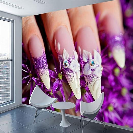 Amazon.com: xbwy Papel pintado 3D para salón de uñas, 3 ...