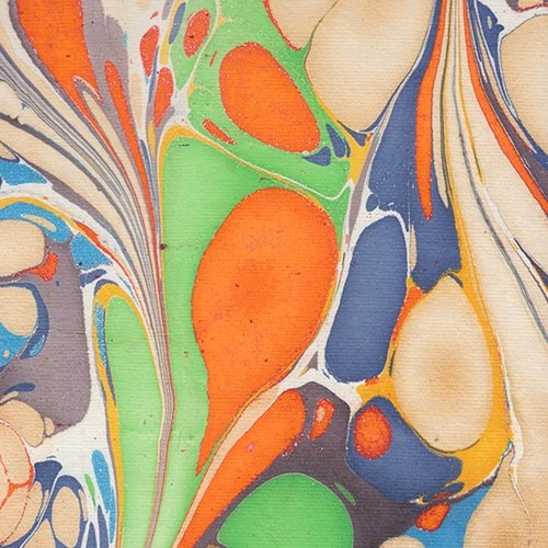 Marbled Paper from India- Multicolor Butterfly Wings 22x30