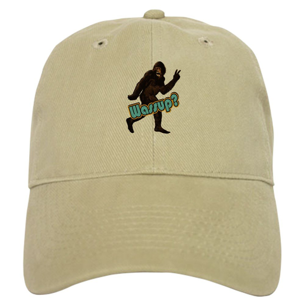 eef579acb63 Amazon.com  CafePress - Bigfoot Yeti Sasquatch Wassup - Baseball Cap with  Adjustable Closure