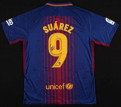 premium selection d4ef4 9e279 Luis Suarez Signed FC Barcelona Jersey BAS Beckett at ...