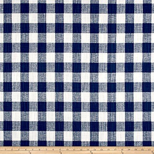 Navy Premier Buffalo (Premier Prints Buffalo Plaid Slub Canvas Italian Denim Fabric By The Yard)