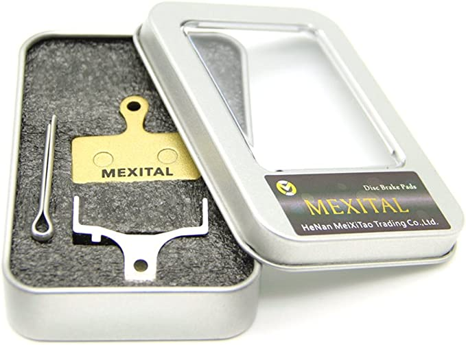 MEXITAL 2 Pairs Sintered Disc Brake Pads fit for Shimano Deore M610 M615 M6000 SLX M666 M675 M7000 XT M785 M8000 Saint BR-M820 XTR M960 M985 M987 M988 M9000 M9020 Alfine BT-S700 RS785 RS685
