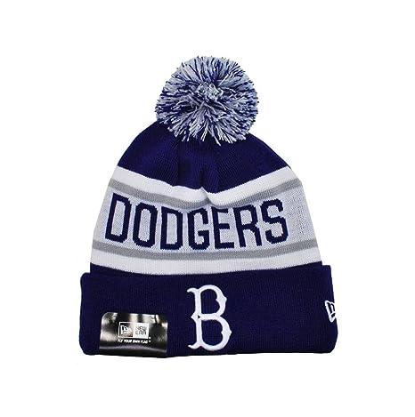 0f86a3c23bc Amazon.com   New Era Knit Mlb Brooklyn Dodgers Beanie Unisex Hat Royal  Blue white   Sports   Outdoors