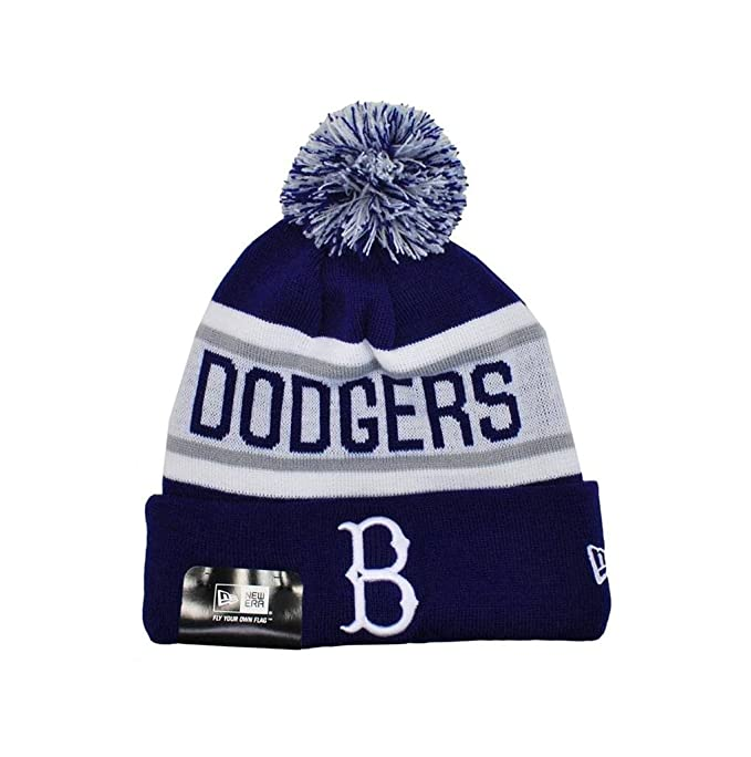 2dddc5fe Amazon.com : New Era Knit Mlb Brooklyn Dodgers Beanie Unisex Hat Royal  Blue/white : Clothing