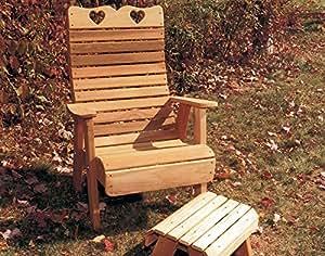 creekvine diseños cedro Royal país corazones silla de jardín