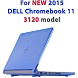 "iPearl mCover Hard Shell Case for 11.6"" Dell Chromebook 11 3120 series released after Feb. 2015 with 180 degree LCD hinge (NOT compatible with Dell C11 210-ACDU , 3180, 3189 series) (Blue)"